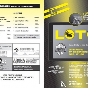 Concours: Loto du FC Printse-Nendaz  Ce dimanche 1...