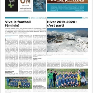 Le FC Printse Nendaz remplit une page et demi de l...
