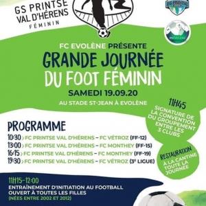Ce samedi à Evolène a lieu la journée du foot f...