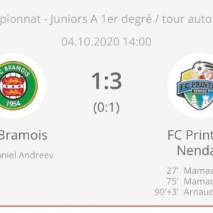 Bravo aux juniors A pour leur victoire à Bramois....